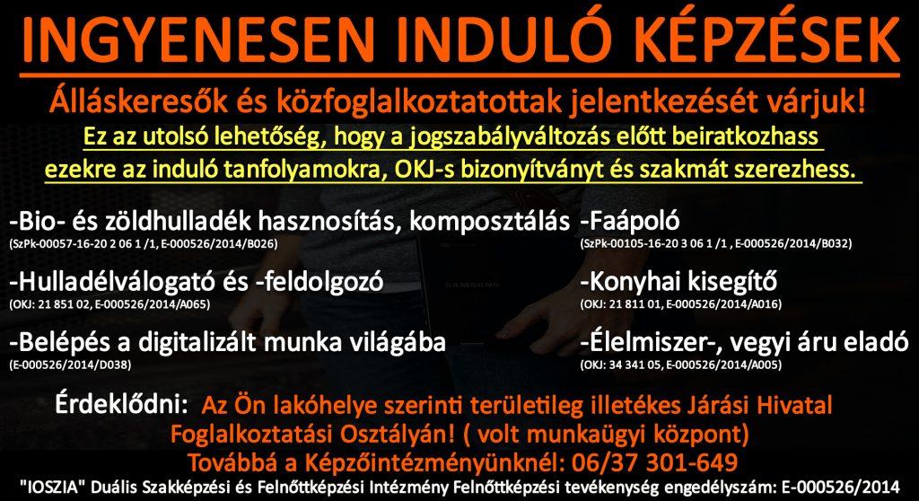 Győr-Moson-Sopron megye - Ingyenes képzések - Felnőttképzés - felnottkepzes.hu - IOSZIA